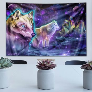 Astral Wolves Tapestry | Mugwort Designs