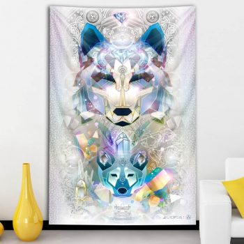 Galactic Wolf Tapestry | Mugwort Designs