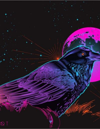 Synthwave Crow Spell
