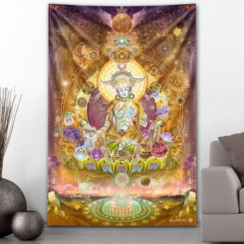 White Tara Tapestry | Mugwort Designs